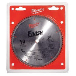 "Milwaukee Electric Tool - 48-40-4166 - 10"" Carbide Combination Circular Saw Blade, Number of Teeth: 80"