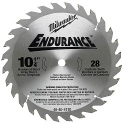 Milwaukee Electric Tool - 48-40-4170 - Milwaukee 48-40-4170 10-1/4-Inch 28-Carbide Teeth Circular Saw Blade