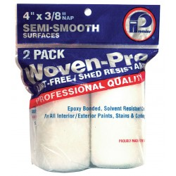 Premier Paint Roller - 2WP442 - Paint Roller Cover, 4 in, Woven Fabric, PK2
