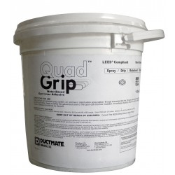 Ductmate Industries - GR4EVERHOLD5 - White 5 gal. Adhesive, Insulation, 10 to 20 min. Curing Time, 1 EA