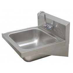 Advance Tabco - 7-PS-45 - Stainless Steel Wall Bathroom Sink With Faucet, 20 x 16 Bowl Size