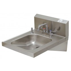 Advance Tabco - 7-PS-25 - Stainless Steel Wall Bathroom Sink With Faucet, 14 x 16 x 5 Bowl Size