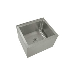 Advance Tabco - 9-OP-40 - 25 x 21 x 16 Silver Mop Sink, 12 Bowl Depth, Stainless Steel