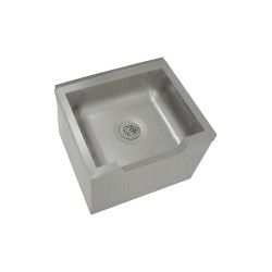 Advance Tabco - 9-OP-40DF - 25 x 21 x 16 Silver Mop Sink, 10 Bowl Depth, Stainless Steel