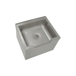 Advance Tabco - 9-OP-48DF - 33 x 25 x 16 Silver Mop Sink with Front Shoulder, 12 Bowl Depth, Stainless Steel
