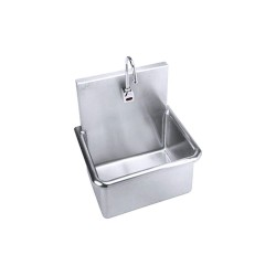 Just Manufacturing - A-18665-S - Wall-Mount Bathroom Sink, 15 x 20 Rectangular Bowl, Stainless Steel