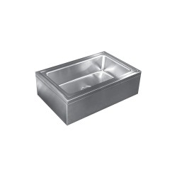 Just Manufacturing - A-47699 - 21 x 33 x 8 Silver Mop Sink, 8 Bowl Depth, Stainless Steel