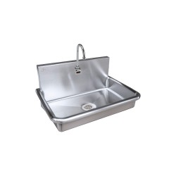 Just Manufacturing - J-ADA-3020-S - Stainless Steel Bathroom Sink, With Faucet, Wall Mounting Type, Stainless Steel
