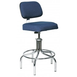 Bevco Precision - 2600/5E-NVY - Fabric Ergonomic Chair with 24 to 29 Seat Height Range and 300 lb. Weight Capacity, Navy