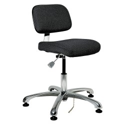 Bevco Precision - 8050-EBONY - Fabric Ergonomic Chair with 15-1/2 to 21 Seat Height Range and 300 lb. Weight Capacity, Black