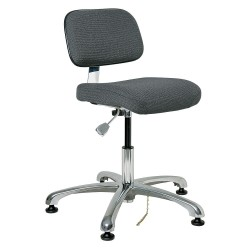 Bevco Precision - 8050-GRYF - Fabric Ergonomic Chair with 15-1/2 to 21 Seat Height Range and 300 lb. Weight Capacity, Gray