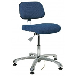 Bevco Precision - 8050-NVYF - Fabric Ergonomic Chair with 15-1/2 to 21 Seat Height Range and 300 lb. Weight Capacity, Navy