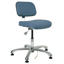 Bevco Precision - 8050-SLATE - Fabric Ergonomic Chair with 15-1/2 to 21 Seat Height Range and 300 lb. Weight Capacity, Slate Blue