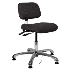 Bevco Precision - 8051-EBONY - Fabric Ergonomic Chair with 15-1/2 to 21 Seat Height Range and 300 lb. Weight Capacity, Black