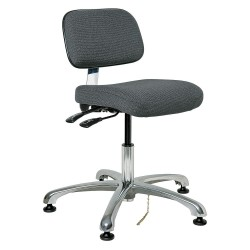 Bevco Precision - 8051-GRYF - Fabric Ergonomic Chair with 15-1/2 to 21 Seat Height Range and 300 lb. Weight Capacity, Gray