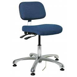 Bevco Precision - 8051-NVYF - Fabric Ergonomic Chair with 15-1/2 to 21 Seat Height Range and 300 lb. Weight Capacity, Navy