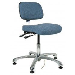 Bevco Precision - 8051-SLATE - Fabric Ergonomic Chair with 15-1/2 to 21 Seat Height Range and 300 lb. Weight Capacity, Slate Blue