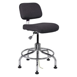 Bevco Precision - 8200-EBONY - Fabric Ergonomic Chair with 20 to 25 Seat Height Range and 300 lb. Weight Capacity, Black