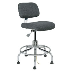Bevco Precision - 8200-GRYF - Fabric Ergonomic Chair with 20 to 25 Seat Height Range and 300 lb. Weight Capacity, Gray