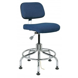 Bevco Precision - 8200-NVYF - Fabric Ergonomic Chair with 20 to 25 Seat Height Range and 300 lb. Weight Capacity, Navy