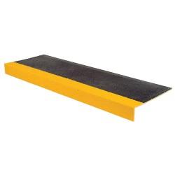 Rust-Oleum - 271800 - Yellow/Black, Plastic/Fiberglass Stair Tread Cover, Installation Method: Adhesive or Fasteners, Squa