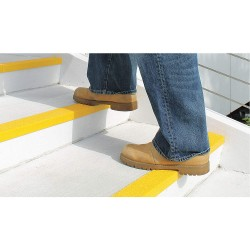 Rust-Oleum - 271820 - Yellow, Plastic/Fiberglass Stair Nosing, Installation Method: Adhesive or Fasteners, Square Edge Typ