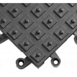Wearwell / Tennessee Mat - 552 - Interlocking Antifatigue Mat, Vinyl, Black, 1 ft. 6 x 1 ft. 6, 10 PK