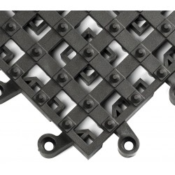 Wearwell / Tennessee Mat - 553 - Interlocking Drainage Mat, Vinyl, Black, 1 ft. 6 x 1 ft. 6, 10 PK
