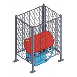 Morse - GEK-201-E1 - Drum Safety Enclosure, Electric, Explosion-Proof Gate Switch, Overall Width 40, Overall Height 74