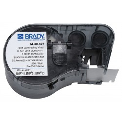 Brady - M-49-427 - Bmp51/bmp53/bmp41 Label Maker Cartridgemseries B427 Wht 1.0x1.0x.375 260ea 1cart