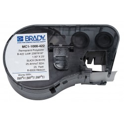 Brady - MC1-1000-422 - Mc1-1000-422 / Size: 1.0 In X 25 Ft (25.4 Mm X 7620 Mm). Color: Black On White