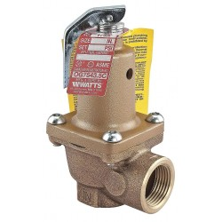 Watts Water Technologies - LF174A-100-2 - Boiler Pressure Relief Valve, 9, 970, 000 BtuH, 100 psi