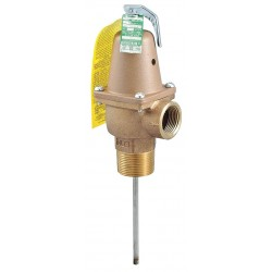 Watts Water Technologies - LFN241X5-150-210-1-1/4 - Temperature and Pressure Relief Valve, 4, 059, 000 BtuH, 150 psi, 5 Thermostat Length