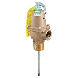 Watts Water Technologies - LFN241X8-150-210-11/4 - Temperature and Pressure Relief Valve, 4, 059, 000 BtuH, 150 psi, 8 Thermostat Length