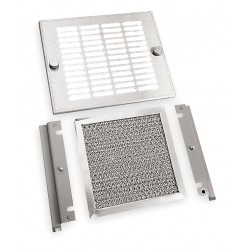 Hubbell - WPFBE100 - Steel and Aluminum Exhaust Grille, 1 EA, For Fan Size (In.) 5-5/8