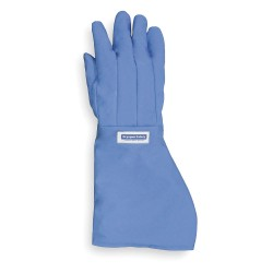 National Safety Apparel - G99CRBERSMEL - Water Resistant Cryogenic Gloves, Nylon Taslan and PTFE, Size S, 17 to 18 Length