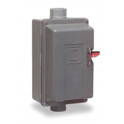 Square D - 2510MBW11 - Push Button Manual Motor Starter, Enclosure NEMA Rating 4, 4X, 18 Amps AC, NEMA Size:M-0