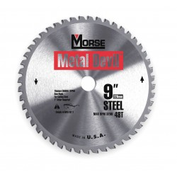 M.K. Morse - CSM948NSC - 9in 48t Steel Cutting Circular Blade-1in Arbor
