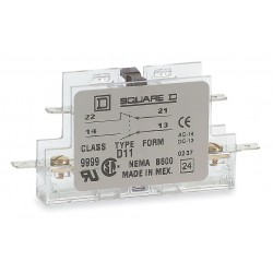 Square D - 9999D20 - Auxiliary Contact, 5 Amps, Instantaneous Type