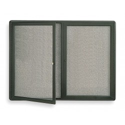 Quartet (Acco) - 2367L - Quartet Enclosed Indoor Fabric Bulletin Board with Hinged Doors (Each)