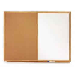 Quartet (Acco) - S553 - Combination Bulletin Board, 24H x 36W In
