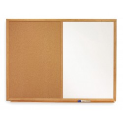 Quartet (Acco) - S554 - Combination Bulletin Board, 36H x 48W In