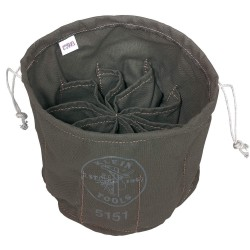 Klein Tools - 5151 - Drawstring Bucket Bag, Olive Canvas