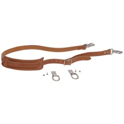 Klein Tools - 5102S - Klein Tools Leather Shoulder Strap Kit (Includes Leather Strap With Pad And Snap Hooks, Rings And Fasteners) (For Use With 5102 And 5105 Canvas Tool Bag)