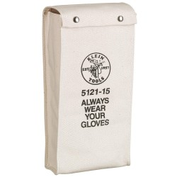 Klein Tools - 5121-19 - 1-Pocket Canvas General Purpose Glove Bag, 19H x 8W x 8D, White