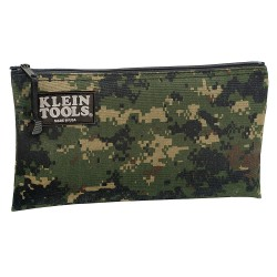"Klein Tools - 5139C - 1-Pocket Nylon General Purpose Tool Bag, 7""H x 12-1/2""W x 1""D, Camouflage"