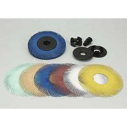 Scotch-Brite - 33057 - 6 Radial Bristle Brush, Curved Bristles, 1 Face Width, 220 Grit, Ceramic, Package Quantity 80