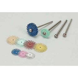 Scotch-Brite - 25757 - 3/4 Radial Bristle Disc, Curved Bristles, Arbor, 220 Grit, Package Quantity 192
