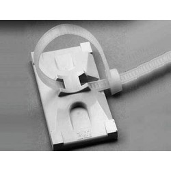 3M - CTB2X1BGA-C - 3M CTB2X1BGA-C 2-Way Cable Tie Mounting Base, Adhesive, 2 x 1, Beige