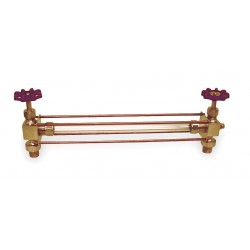 Apollo Valves - 2435100 - 1/2 Pipe Size Water Gauge, Max. Pressure 500 psig at 100F, Composition Wheel, Includes: Ball Check